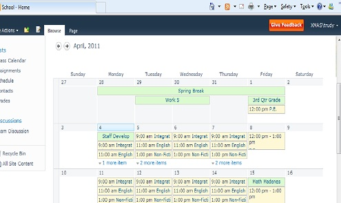 For this calendar we have added color coding so we can easily ...